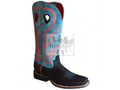 western boot twisted x womens ruff stock dark