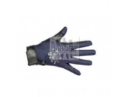 Dětské jezdecké rukavice HKM