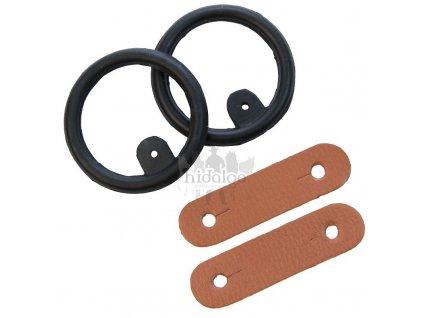 Náhradní gumička a kožený pásek do bezpečnostních třmenů