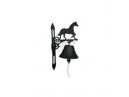 Zvonek s koněm litinový