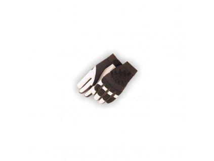 Westernové jezdecké rukavice Eagle White