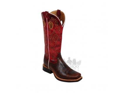 Dámské westernové boty Twisted X Women's Ruff Stock Red