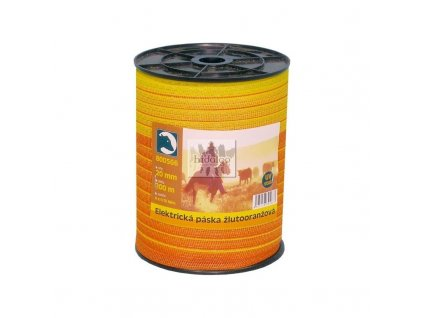 Elektr. páska žlutooranžová 20mm/200m