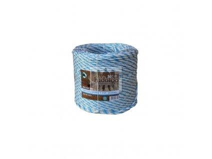 El. provaz PP pro ohradníky bílomodrý 6mm/200m