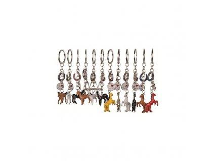 Klíčenka s koníky třmenem a podkovičkou