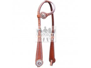 ear headstall basket with points and concha western bridle