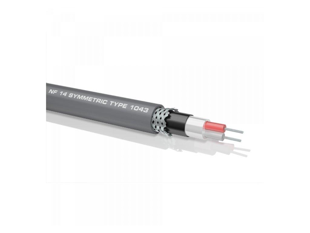 Oehlbach NF 14 kabel symetický/šedá/ metráž