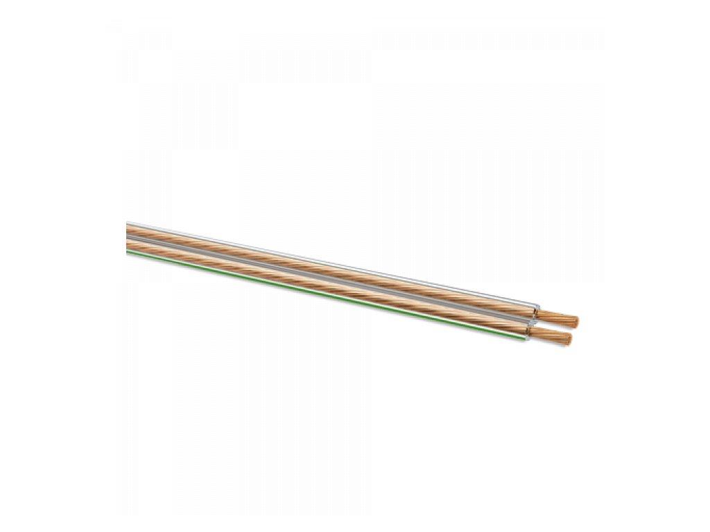 Oehlbach LS-Kabel 2x0,75mm, transparentní, cívka 300m