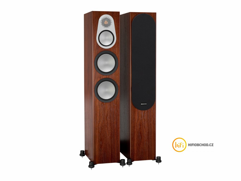 monitor audio silver 300 iso walnut pair 1gr 1