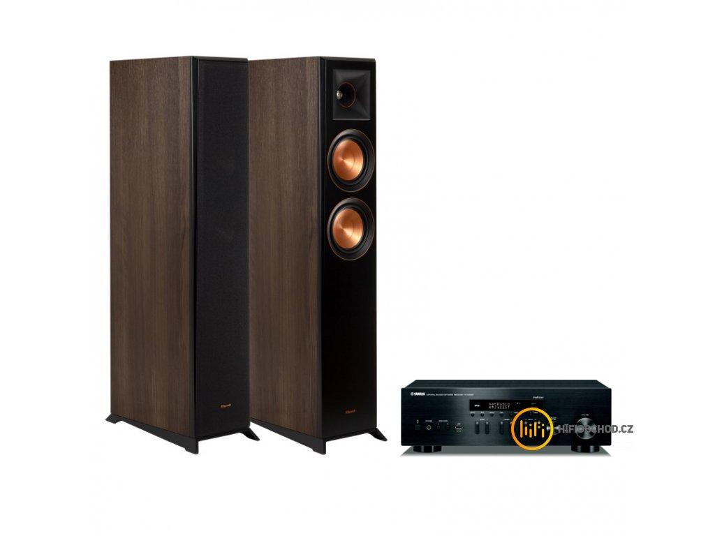 Yamaha r n402 + rp 5000f walnut vinyl pair 1