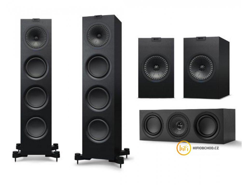 kef q750i set 5.0 black