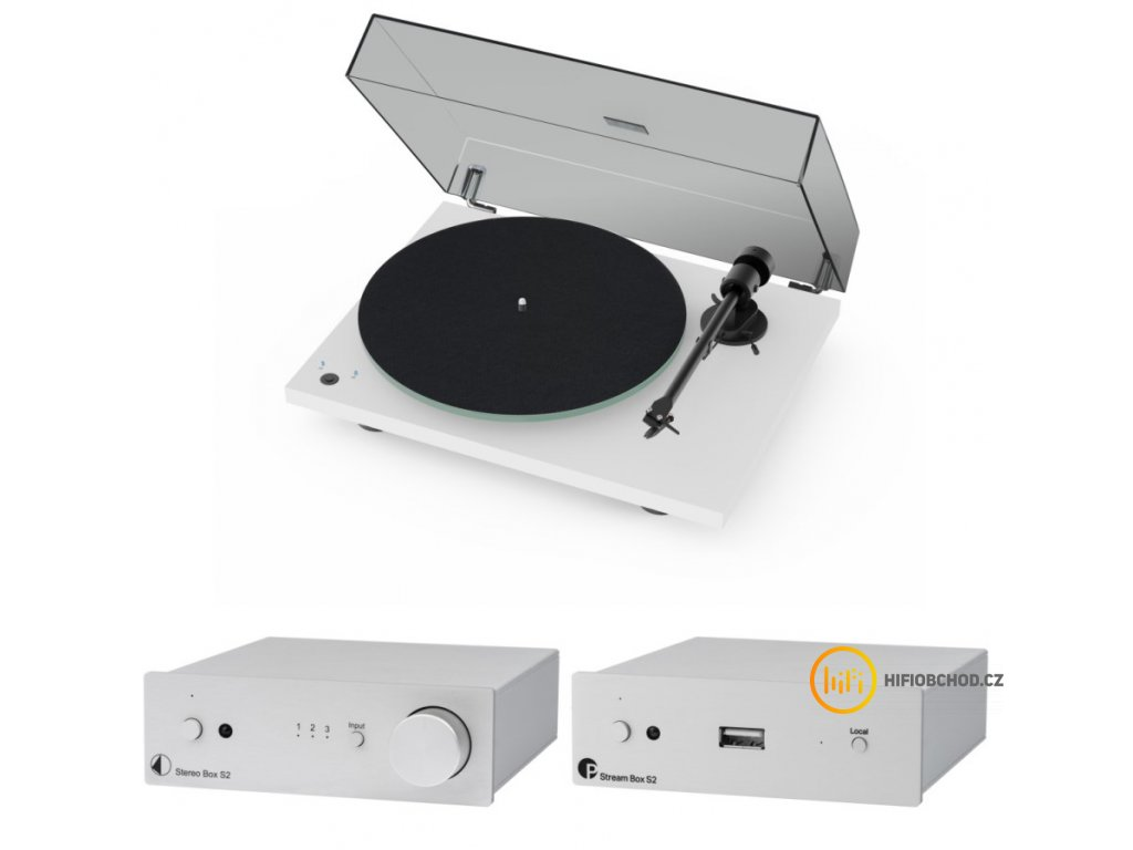 pro ject set best of both worlds white silver t1 phono sb stereo box s2 stream box s2
