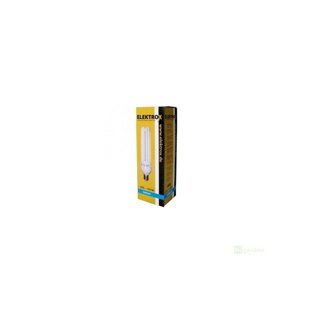 Úsporná lampa ELEKTROX 125W,6400K, růstové spektrum, s integrovaným předřadníkem Cover