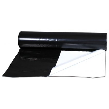 Bílo-černá folie,role 10 m (20m2) Cover