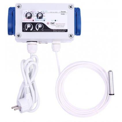 GSE Digitální regulátor teploty, vlhkosti, podtlaku a min. rychlosti ventilátorů 2x5A Cover