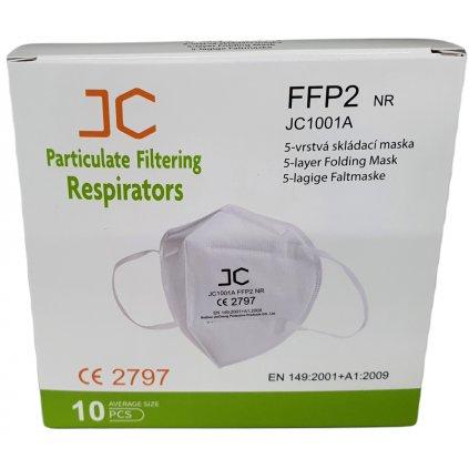 Respirátor FFP2 10ks Plná certifikace.
