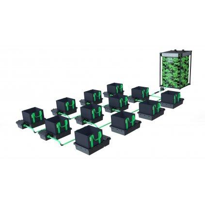 Alien Hydroponics 12 Pot XL 30LTR EasyFeed™ System