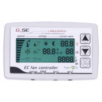 GSE Regulátor s LCD displejem pro 2 EC ventilátory Cover