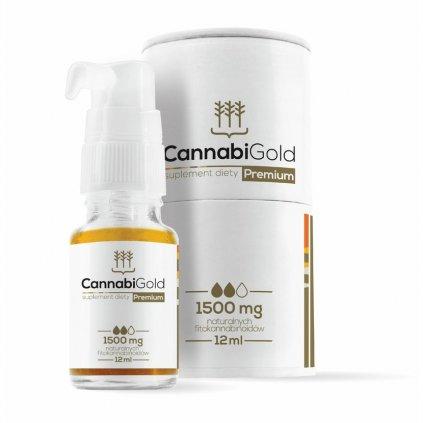 Canatura CannabiGold CBD olej Premium 15
