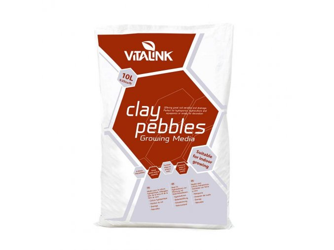 VitaLink Clay Pebbles, 10l Hydroton Cover