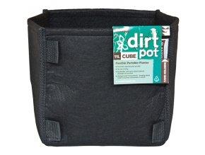 PLANT!T čtvercový textil. květník DirtPot 37l s uchem Cover