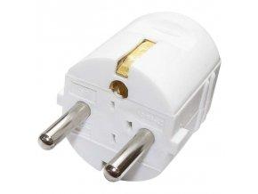 Vidlice přímá pro prodlužovací kabel, bílá Cover