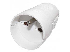 Zásuvka pro prodlužovací kabel, bílá Cover