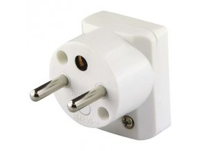 Vidlice úhlová pro prodlužovací kabel, bílá Cover