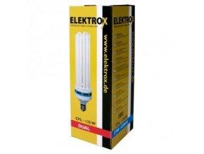 Úsporná lampa ELEKTROX 125W, kombinované spektrum, s integrovaným předřadníkem Cover