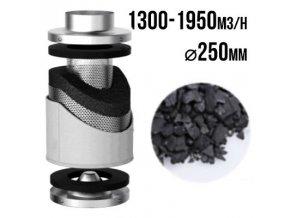 PRO-ECO VF uhlíkový filtr 1300-1950m3/h - 250mm Cover
