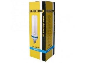 Úsporná lampa ELEKTROX 200W, 6400K, růstové spektrum, s integrovaným předřadníkem Cover