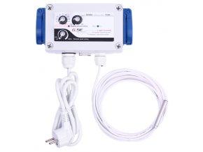 GSE Digitální regulátor teploty, podtlaku a min. rychlosti ventilátorů 2 zásuvky, 2A Cover