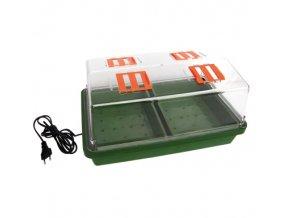 Skleníček plastový s vytápěním,38*24*19cm,tvrdý plast Cover