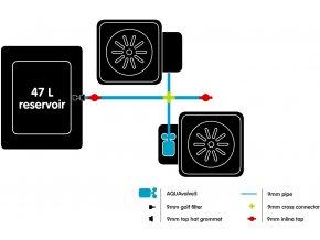 AutoPot 1Pot systém 2 květníky vč. 47L plastová nádrž Cover