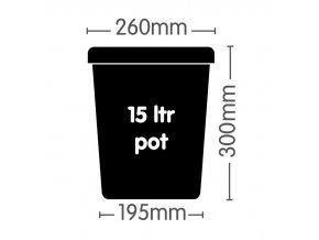 AutoPot 1Pot systém 24 květníků vč. 400L Flexitank Cover