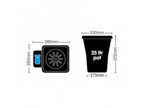 AutoPot 1Pot XL systém vč. 47L plastová nádrž Cover