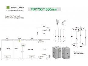 BudBox PRO Small 75x75x100 cm - stříbrný Cover