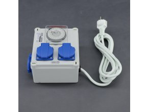 Malapa rozvodnice 2+1 (230V) ovládaná spínacími hodinami KL00