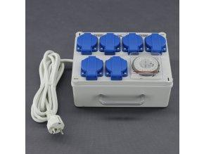 Malapa rozvodnice 4+2 (230V) ovládaná spínacími hodinami KL01