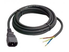 Kabel 3*1,5mm, délka 2m s IEC konektorem (samec) Cover