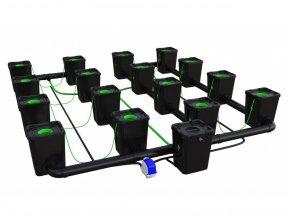 16 Pot RDWC Pro 100CM 55LTR