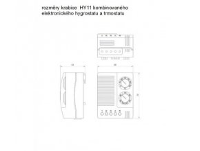 MALAPA MINI KOMBINOVANÝ hygrostat 50% až 90%RH (zvlhčování a odvlhčování) a termostat 0° až +60°C (topení a chlazení) HY11