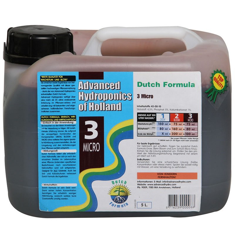 Advanced Hydroponics Micro Objem: 5l