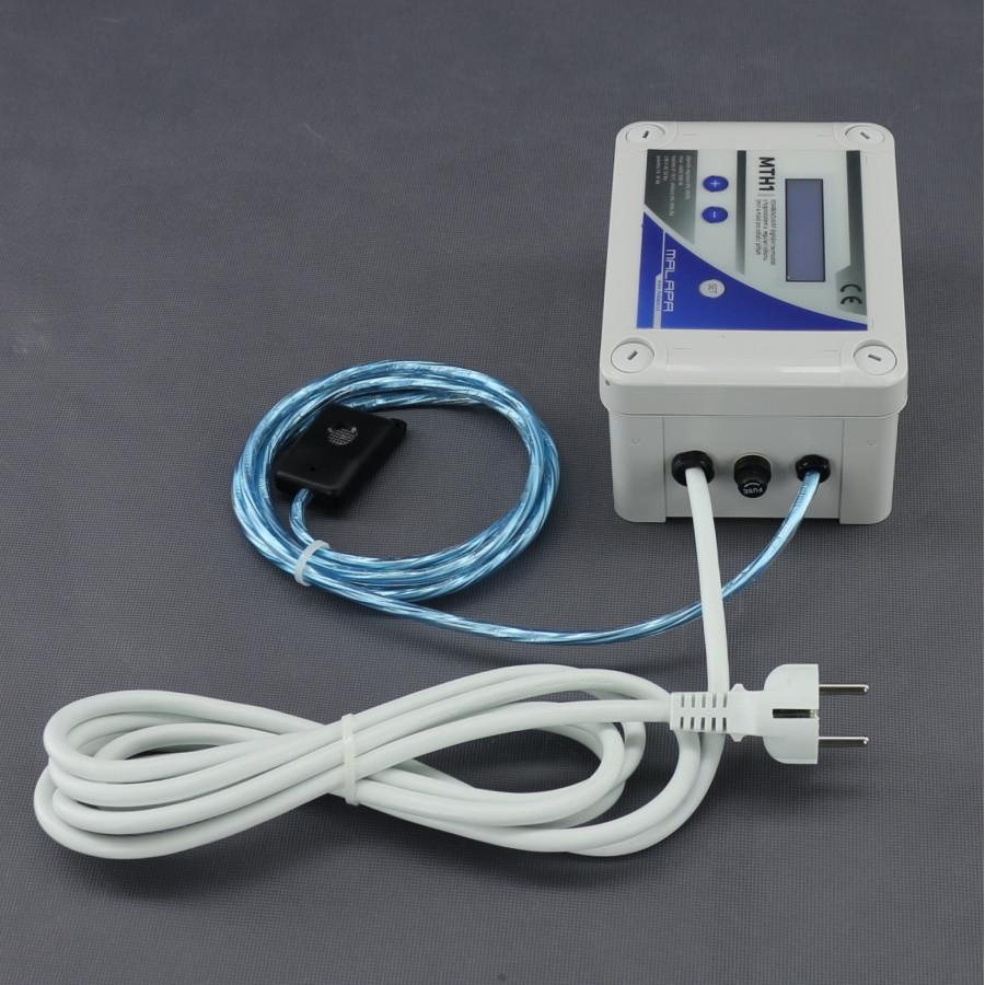 Malapa KOMBINOVANÝ digitální termostat s hygrostatem a regulací výkonu (min a max) pro odtah/ přítah MTH1