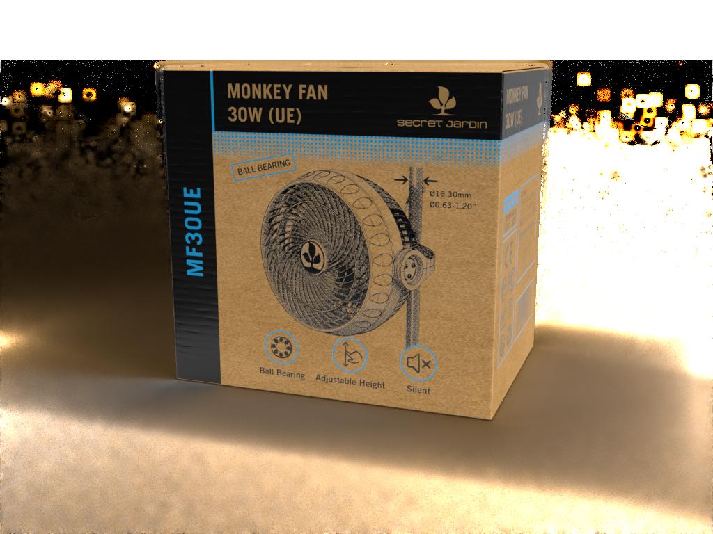Ventilátor Sacred Jarden Monkey Fan s clipsnou, průměr 23cm, 2 rychlosti