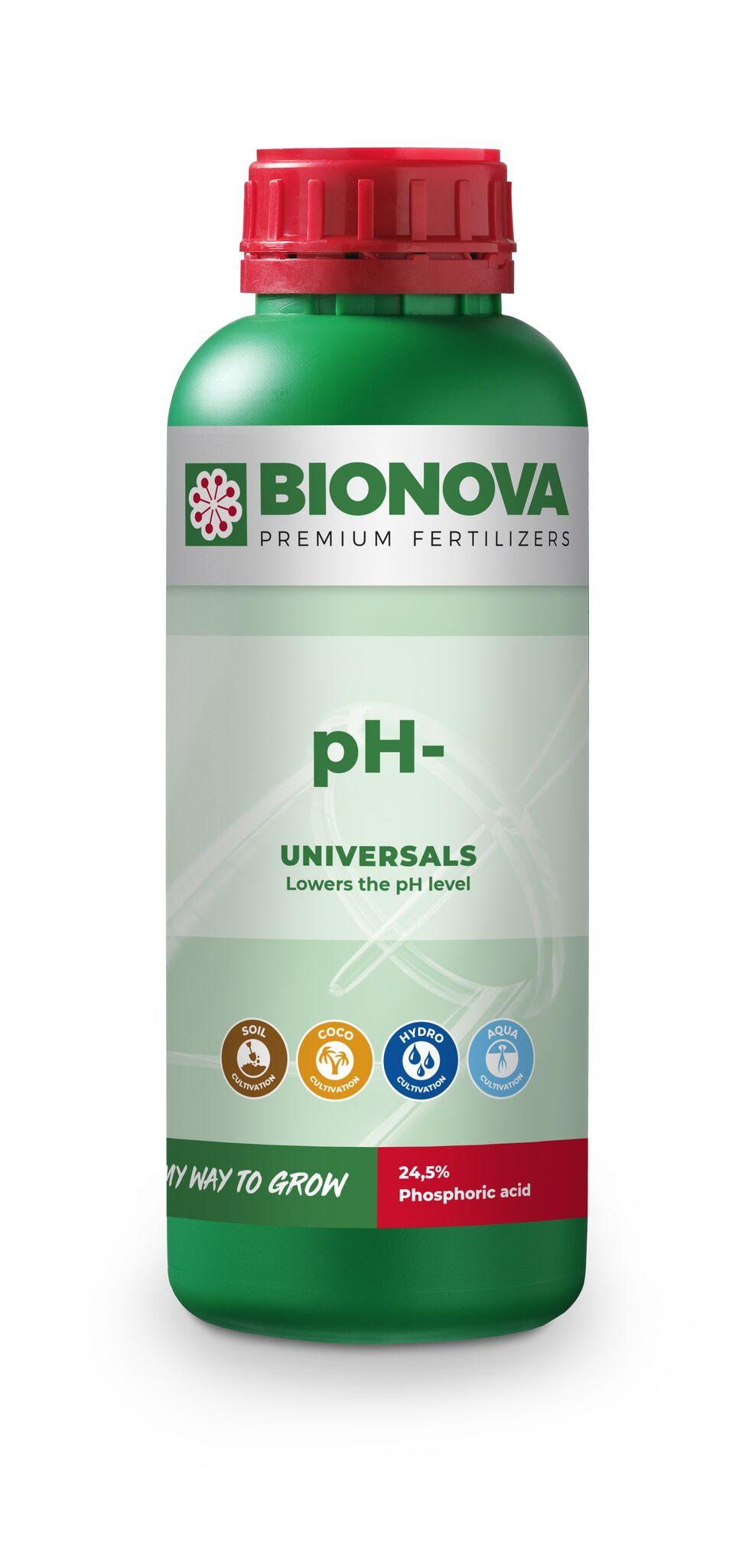 Bio Nova pH- (P2O5 24,5 % kyselina fosforečná) 1l