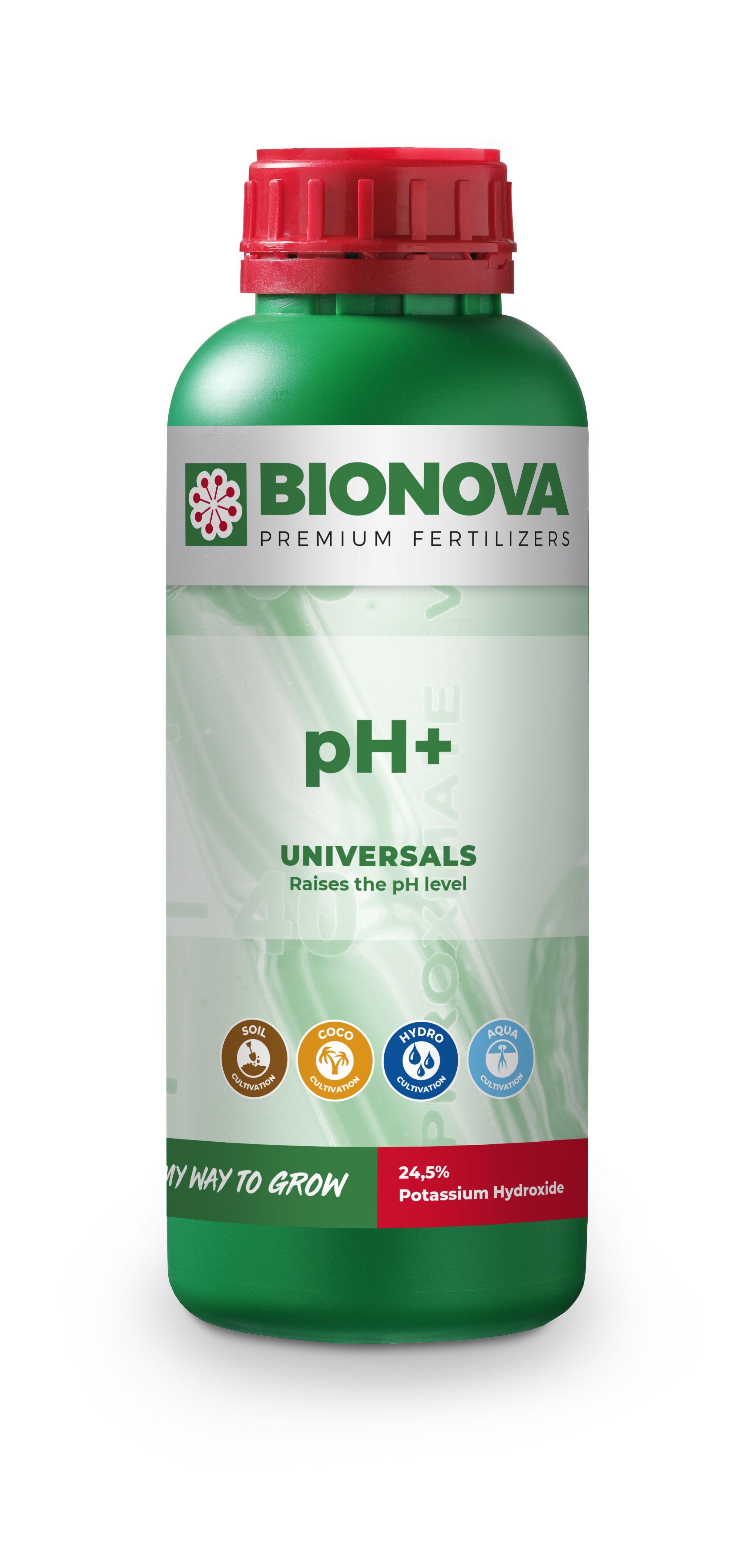 Bio Nova pH+ (KOH 24,5 % hydroxid draselný) Objem: 1l
