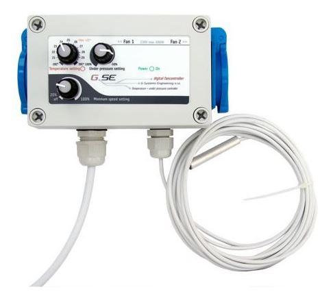 GSE - General System Engineering GSE Digitální regulátor teploty - podtlaku a min. rychlosti otáček 16A