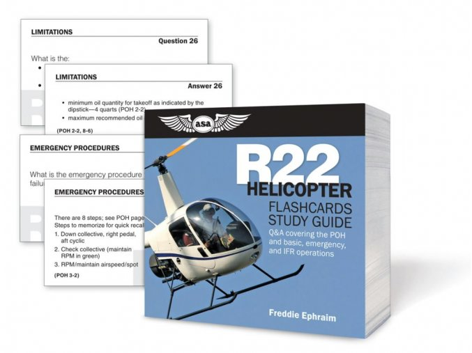 ASA R22 Helicopter Flashcards