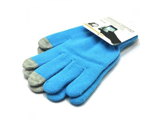 Blue Touch Screen Magic Gloves